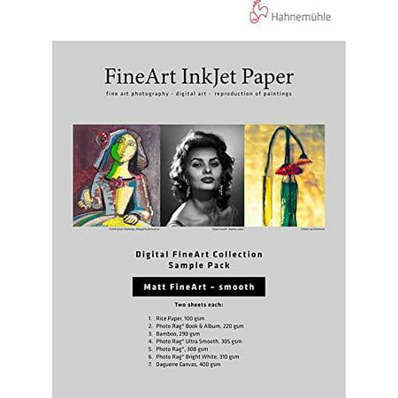 Hahnemuhle Matte Fine Art Smooth Archival Inkjet Paper Sample Pack (8.5 x 11