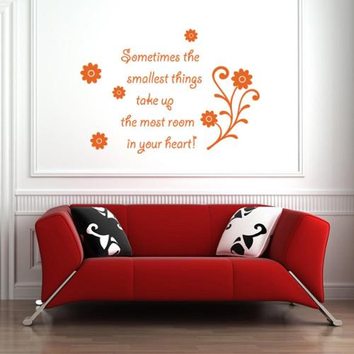 Smallest Things Vinyl Wall Art Decal quotes and sayings White 59in x 41in