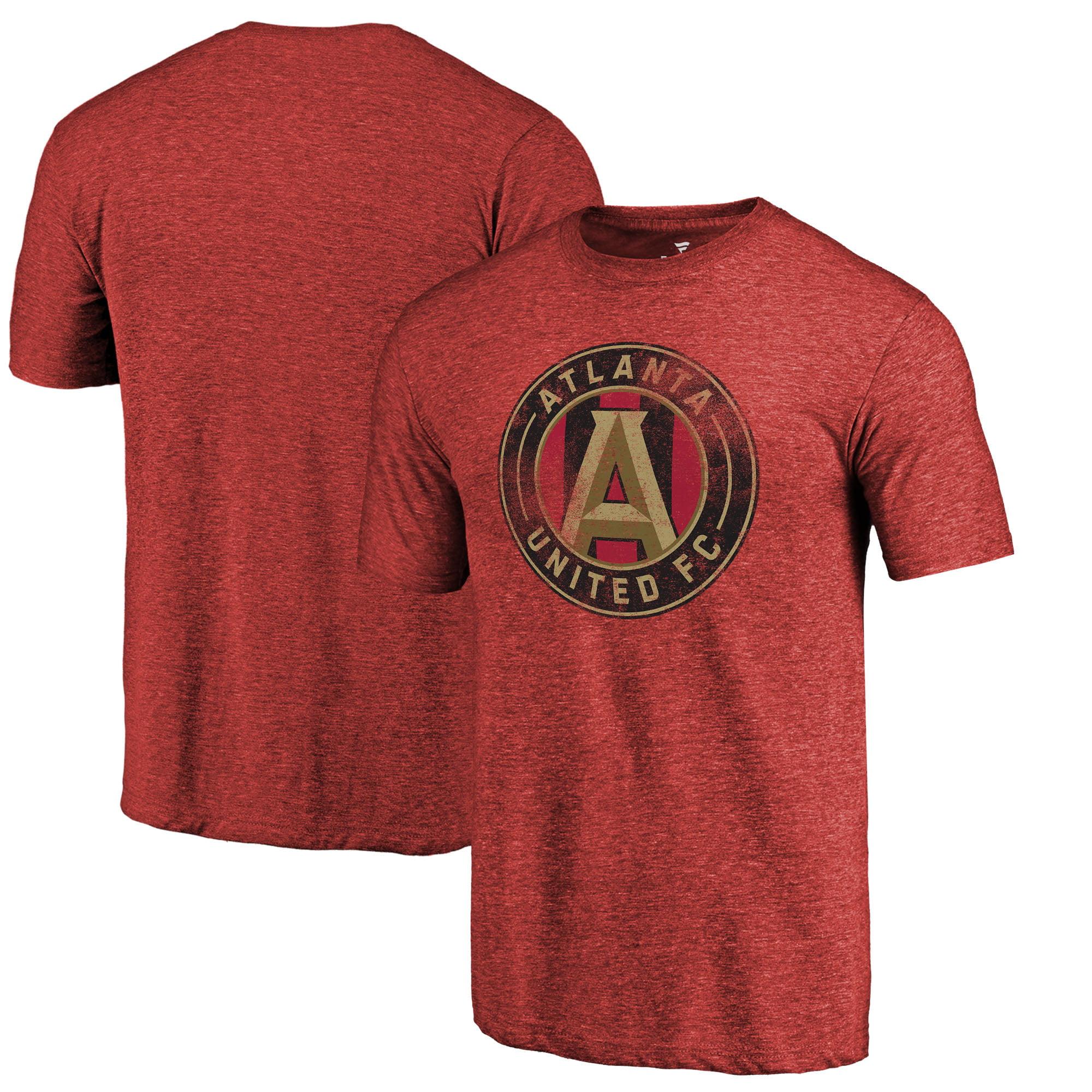 Atlanta United FC Fanatics Branded Distressed Primary Logo Tri-Blend T-Shirt - Red