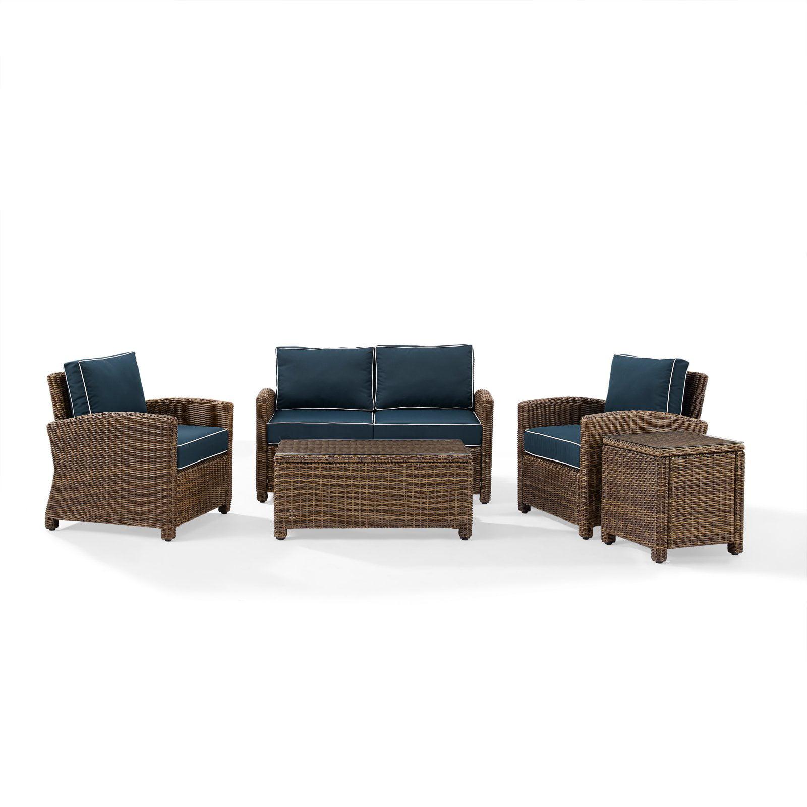 Outdoor Furniture Covers Singapore: Crosley Furniture Bradenton 5-Piece Outdoor Wicker