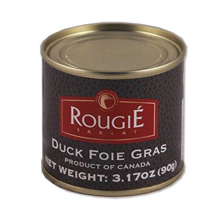 Frozen Duck Foie Gras - Rougie Foie Gras Fully Cooked - 3.17 Oz
