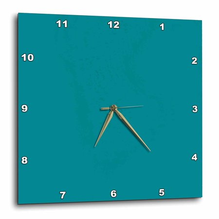 3dRose Plain teal blue - simple modern contemporary solid one single color - turquoise blue-green, Wall Clock, 15 by 15-inch Team Wall Clock