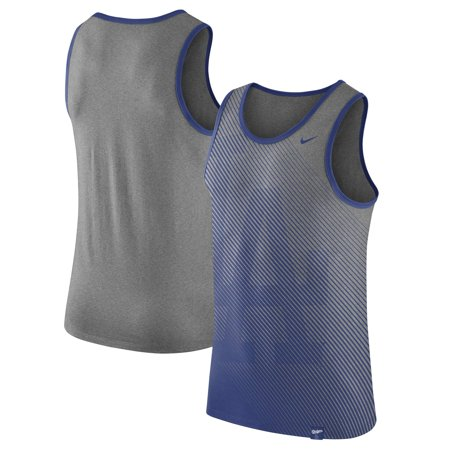 Los Angeles Dodgers Nike 1.7 Tri-Blend Tank Top - Heathered Gray