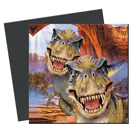 Tree-Free Greetings T Rex Selfie Magnet - Greetings Rectangle Magnet