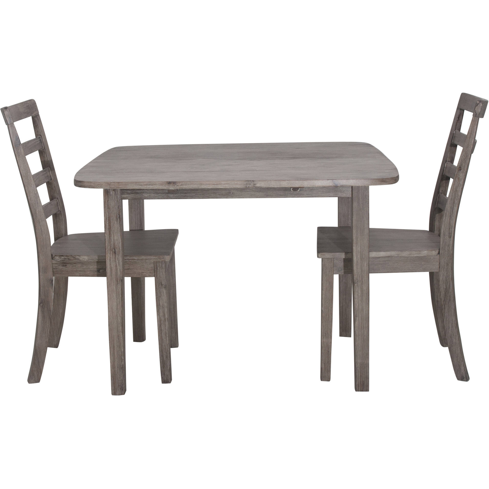 Boraam Boulder 3-Piece Dining Room Set, Gray Wire Brushed by Boraam Industries