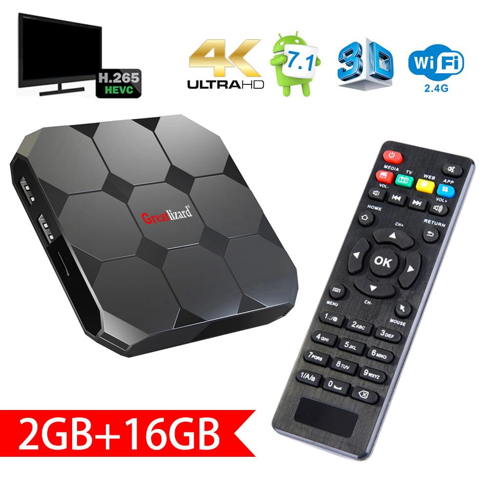 Sawpy A95X TV Box Android 7.1 R2 TV Box amlogic S905W Quad  Core 64 Bit 2 GB Ram 16 GB Rom 4K UHD WiFi & LAN VP9 DLNA H.265