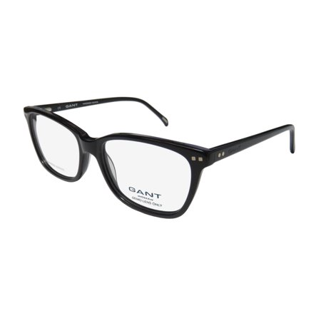 New Gant Amelia Womens/Ladies Cat Eye Full-Rim Black Hand Made Acetate Hip Womens Size Frame Demo Lenses 53-16-145 Spring Hinges (Spectacle Frame Sizes)