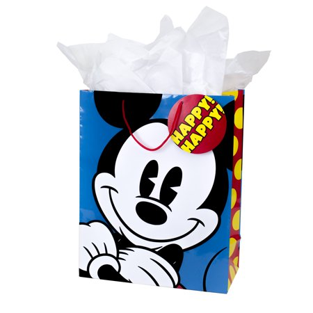 Hallmark, Mickey Mouse, Extra Large Gift Bag with Tissue Paper - Large Paper Bags
