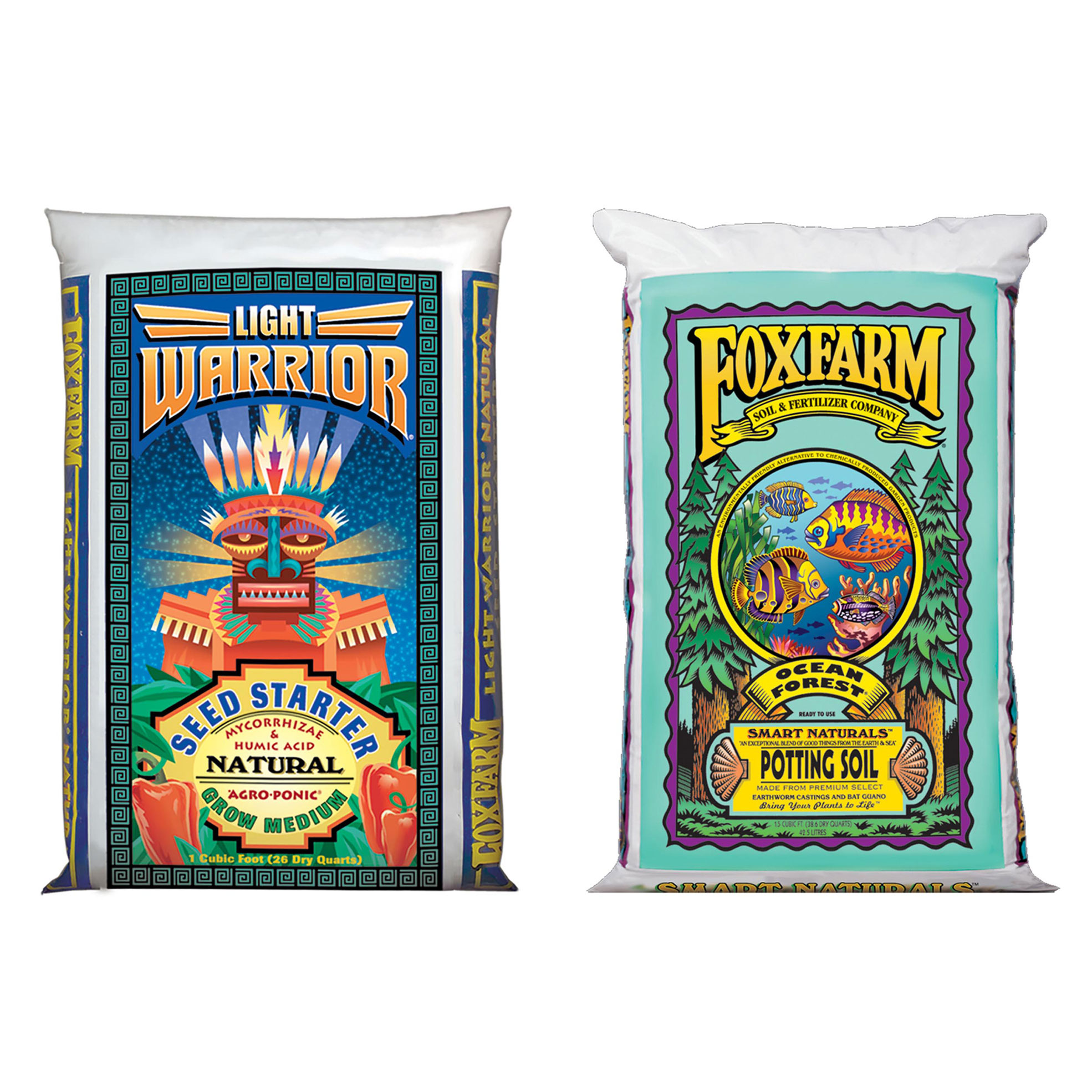 FoxFarm Seed Germinator Mix, 26 Quarts and Garden Potting Soil Mix, 40 Pounds
