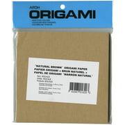 "Origami Paper 5.875""X5.875"" 50 Sheets-Natural Brown"