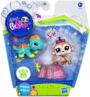 Littlest Pet Shop Baby Monkey And Iguana