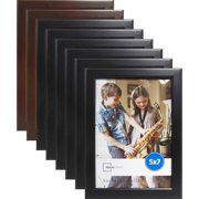 Mainstays 5x7 Stepped Frame, Set of 8 (6 Black and 2 Brown)