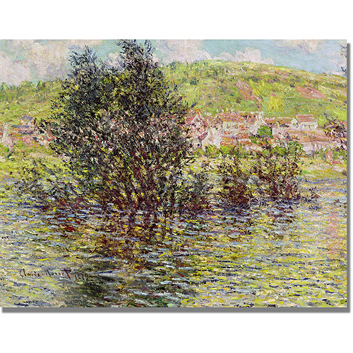 "Trademark Fine Art ""Vetheuil, View From Lavacourt"" Canvas Art by Claude Monet"
