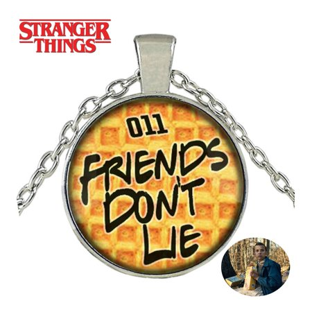 Stranger Things Necklace Pendant - Friends Don't Lie - TV Series Show Cosplay Jewelry by