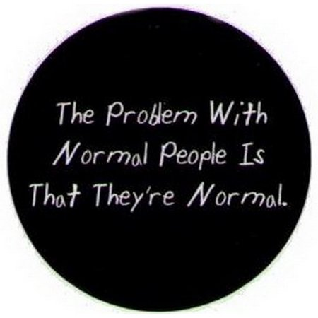 - The Problem With Normal People Button DB3224