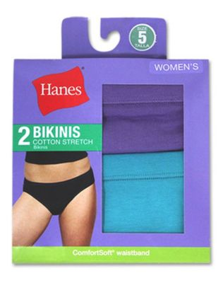 Hanes Women's Cotton Stretch Bikinis