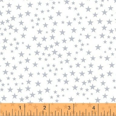 Clearance Sale~Liberty~Silver Stars Cotton Fabric by Windham Fabrics