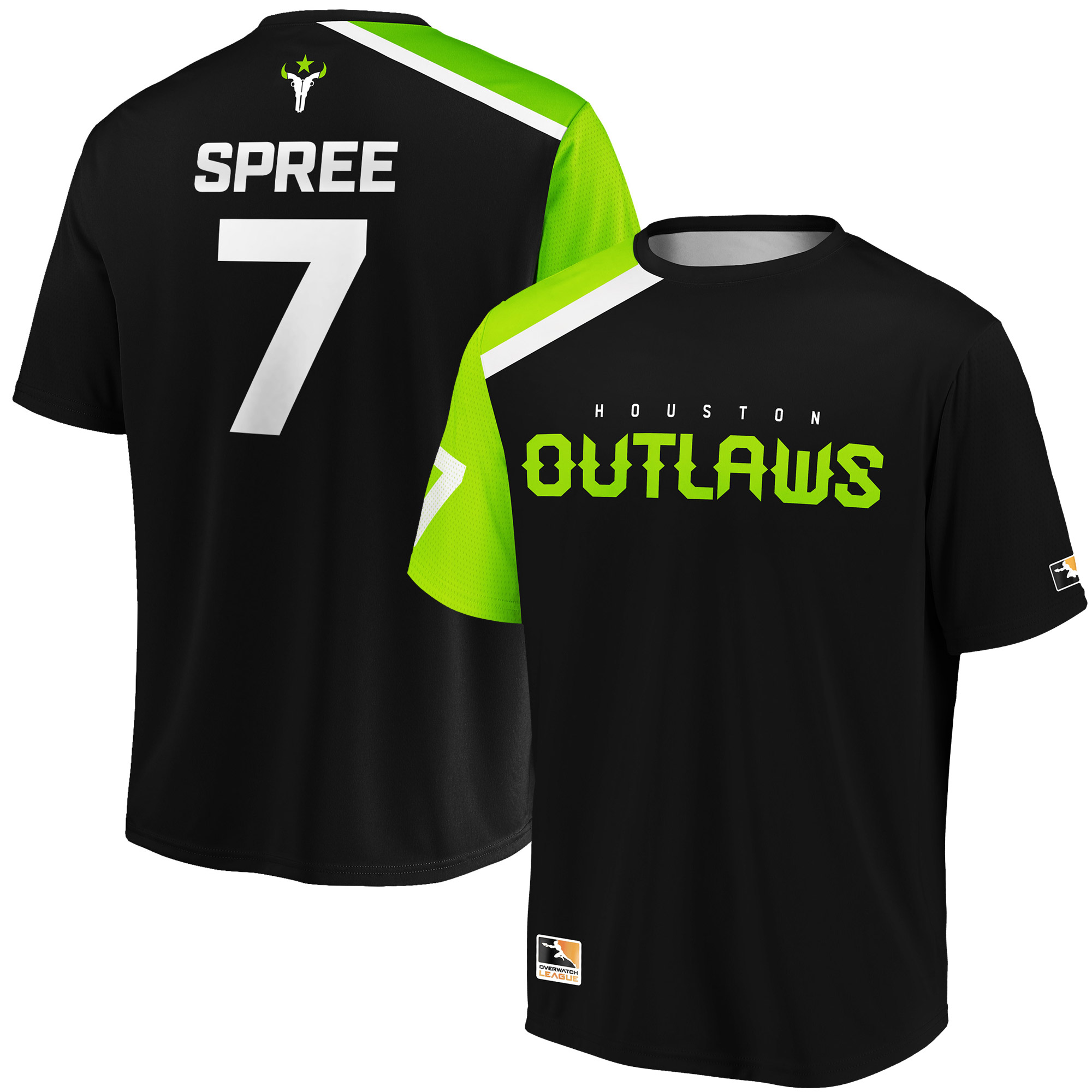 SPREE Houston Outlaws Overwatch League Replica Home Jersey - Black