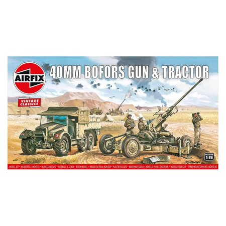 Airfix 02314V WWII British Bofors 40mm Gun & Tractor 1/76 Scale Plastic Model Kit ()