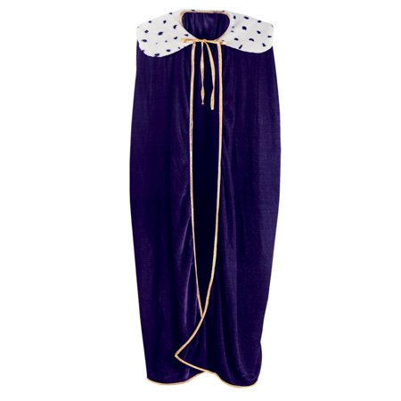 Royal Purple Adult King/Queen Mardi Gras Robe or Halloween Costume Accessory - Mardi Gras King And Queen Costumes