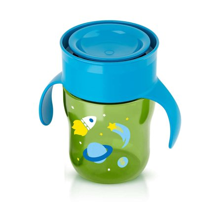 Philips Avent BPA Free My First Big Kid Cup 360degree, 9m+ 9 Oz Green SCF782/50