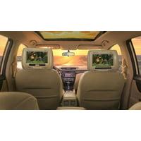 "Pair Rockville RDP931-BG 9 "" Beige Plug N Play Car Headrest Monitors DVD/USB/HDMI"