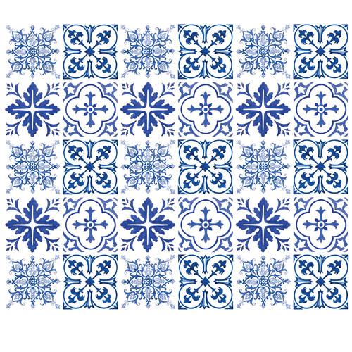 "Wallies Peel & Stick Blue Tiles, 15.75"" x 19.75"""