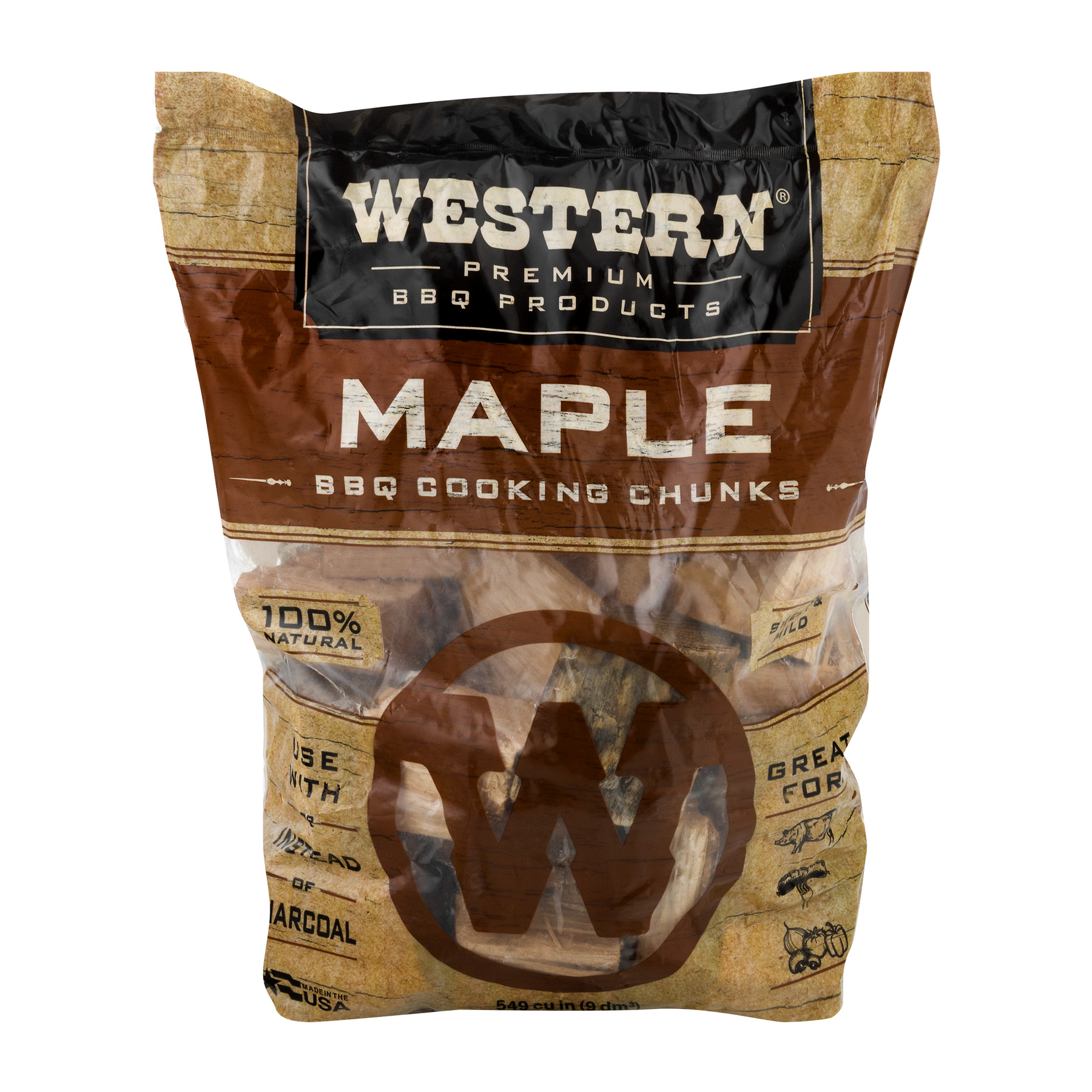 Western Premium BBQ Products 549CUIN Maple Cooking Chunks