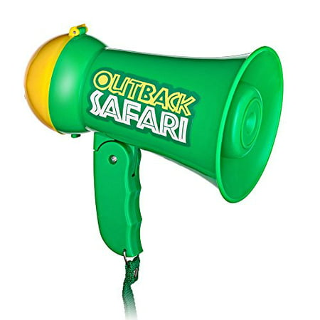 Pretend Play Kids Safari Outback Megaphone with Siren Sound - Handheld Mic Toy (Toy Megaphone)