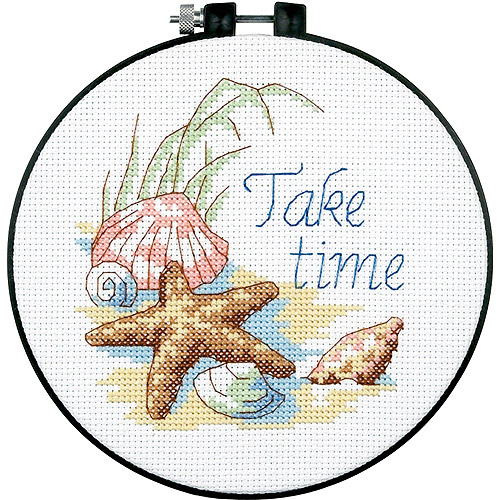 "Dimensions Learn-A-Craft ""Take Time"" Counted Cross Stitch Kit, 6"""