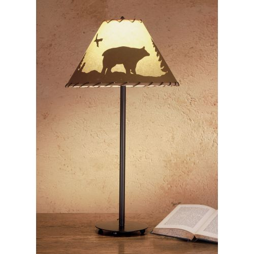 Meyda Tiffany 48465 Table Lamp from the Parchment & Rawhide Collection
