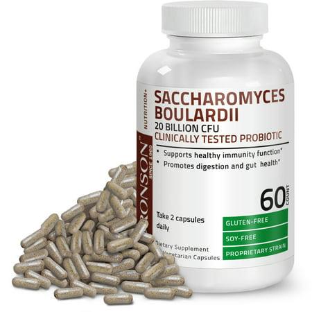 Bronson Saccharomyces Boulardii Clinically Tested Probiotic 20 Billion CFU
