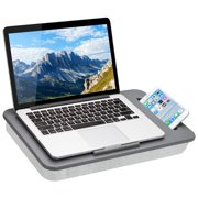 LapGear® Sidekick Lap Desk with Device Ledge and Phone Holder - Gray - Fits up to 15.6 Inch Laptops - Style No. 44215