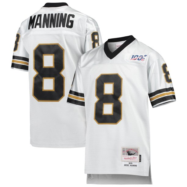 Archie Manning New Orleans Saints Mitchell & Ness Youth NFL 100 Retired Player Legacy Jersey - Platinum