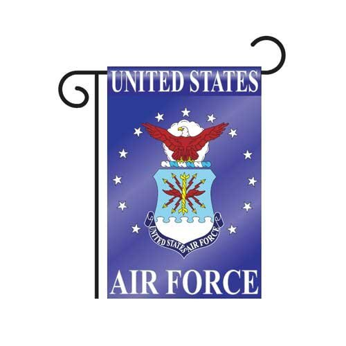 """Air Force Garden Flag Indoor outdoor 13.5"""" X 18"""" by two group"""