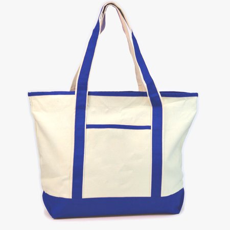 Monogram Jumbo Canvas Beach Tote Bag Royal