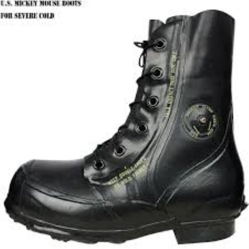 Bata Black Mickey Mouse Boots Military Surplus 12