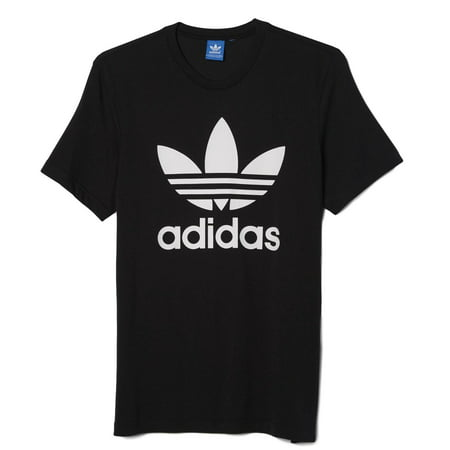 promo code 3652c f8cc0 Adidas - New Men s Adidas Original Authentic Trefoil Logo Tee Shirt T-Shirt  Crewneck Graphic Black - Walmart.com