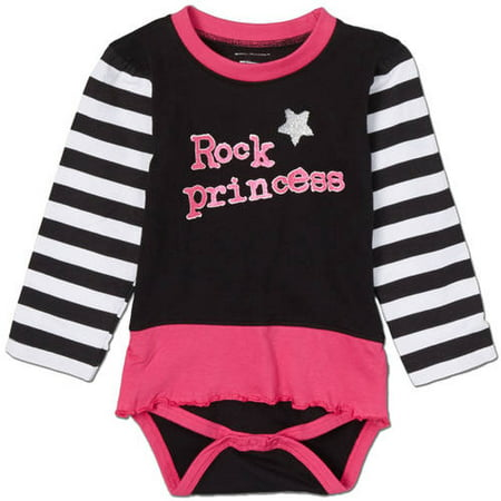 Silly Souls Newborn Baby Girl Rock Princess Striped Tutu Bodysuit
