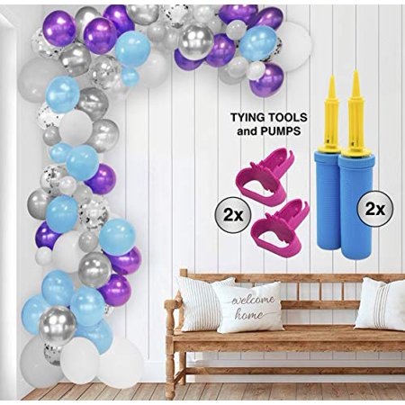 Bryson&Bella Unicorn Balloon Garland Kit - Mermaid Balloon Garland Kit for Birthdays, Baby Showers, Bridal Showers, Engagements, Weddings, Anniversaries, Retirements and other Special Occasions