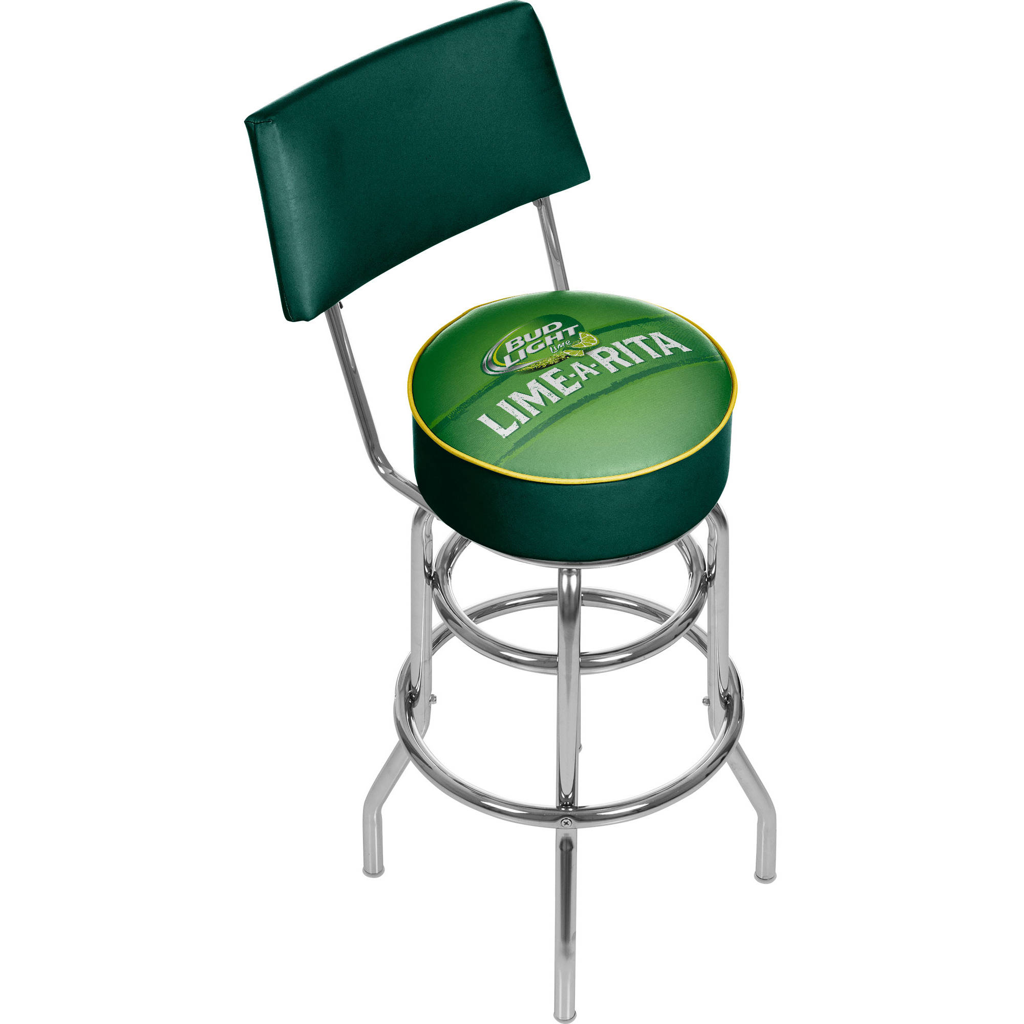 Bud Light Lime-A-Rita Swivel Bar Stool with Back