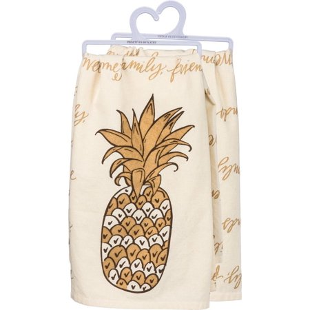 - PINEAPPLE Hospitality Family Friends Tea Towel, 100% Cotton, Primitives by Kathy