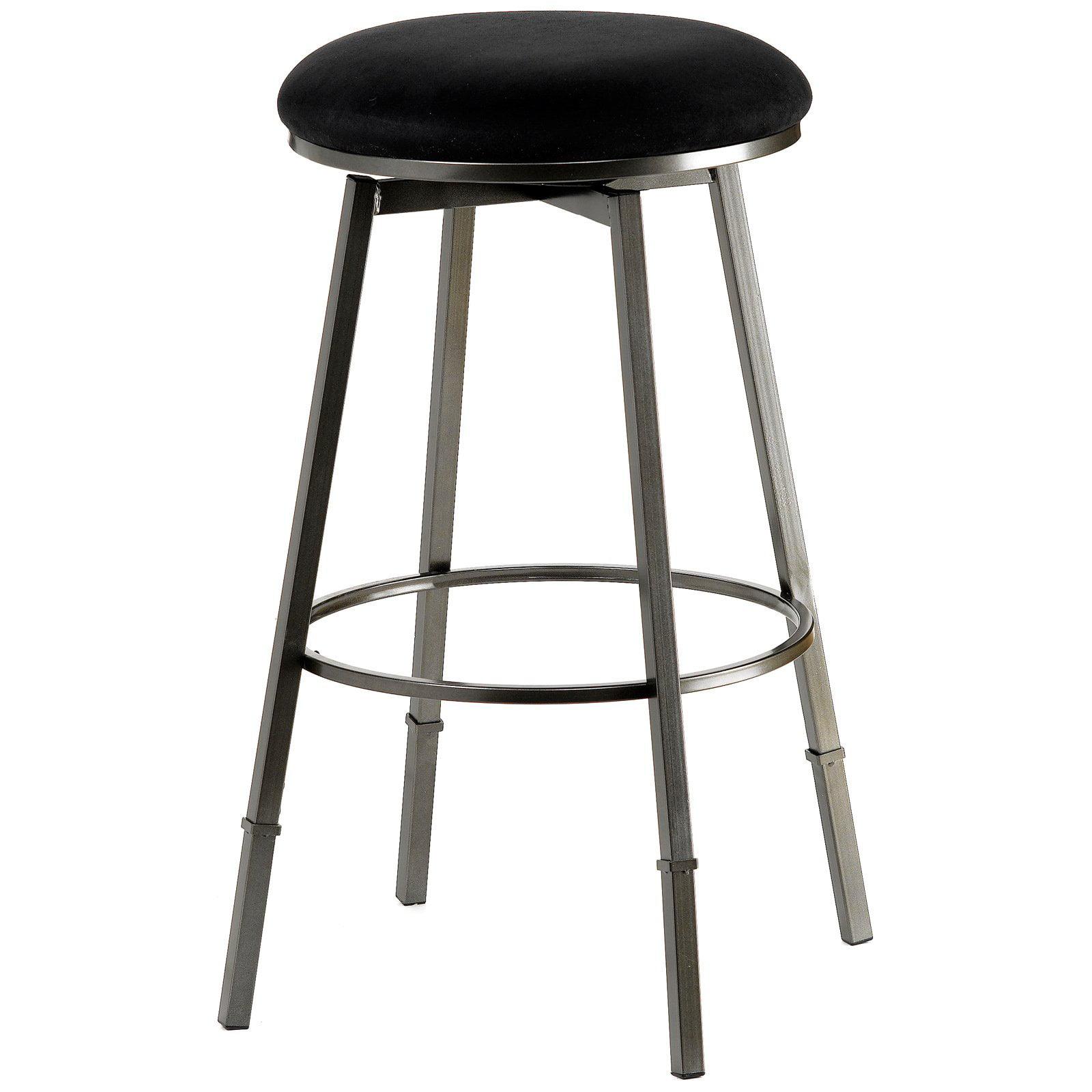 Hillsdale Sanders Swivel Adjustable Height Bar Stool Pewter