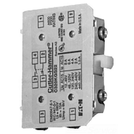 C320KGS21 FREEDOM SERIES CONTACTOR AUXILIARY CONTACT -NEMA SIZE 00-2 - 600V 10 AMP (C320 Series)
