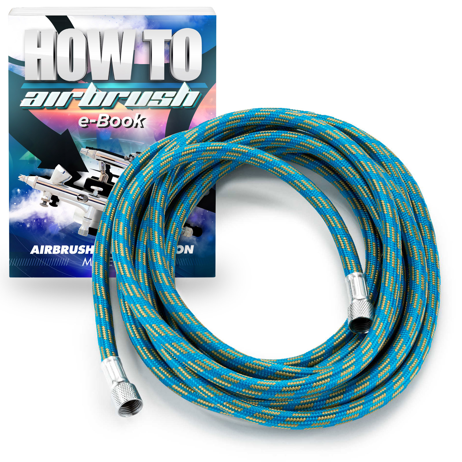 PointZero Braided Airbrush Air Hose 1/8