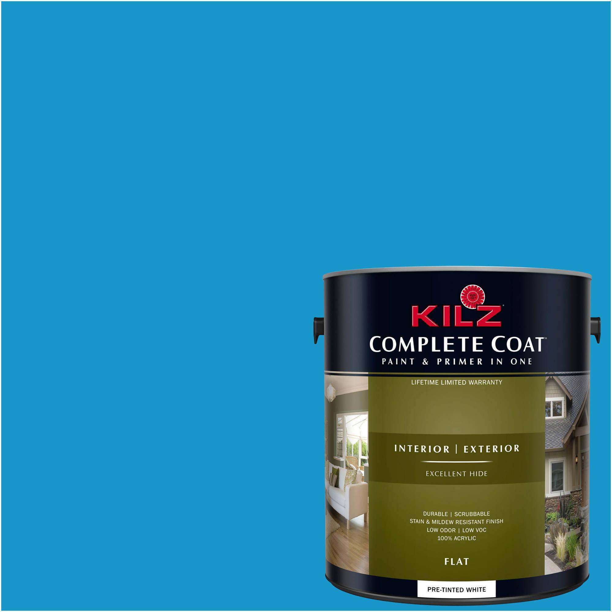 KILZ COMPLETE COAT Interior/Exterior Paint & Primer in One #RD280-02 Hero Blue