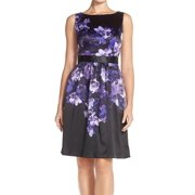 Adrianna Papell NEW Black Floral Printed Women's Size 12 Sheath Dress