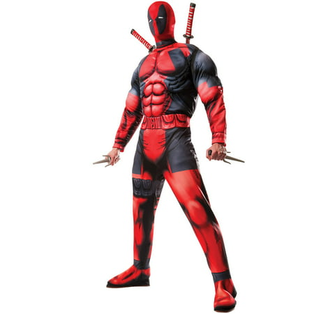 Deadpool Costume For Women (Rubie's Men's Marvel Universe Classic Muscle Chest Deadpool Costume Extra)