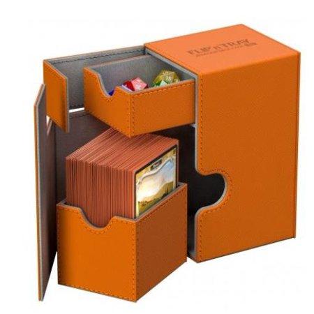 Flip Deck Box w/Tray - XenoSkin, Orange (80) New