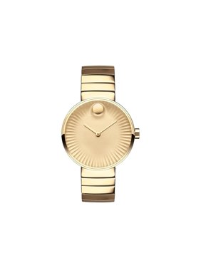 Movado Edge Yellow Gold Aluminum Dial Ladies Watch